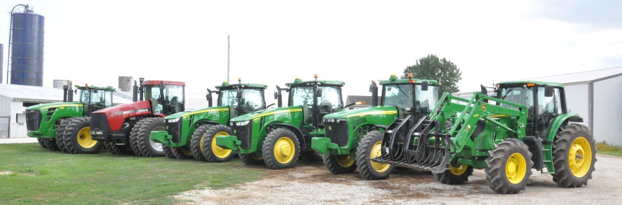 Green Tractor In The Field Bottle Opener Fridge Magnet
