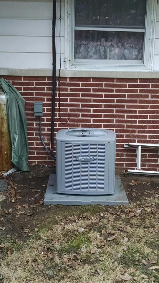 Armstrong Air A/C installed January 29, 2015